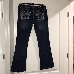 Miss Me boot cut jeans size 31 cross